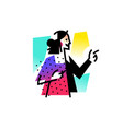 a fashionable girl businesswoman icon abstract vector image vector image