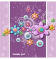 abstract background buttons in shape vector image vector image