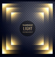 abstract transparent light effect frame design vector image