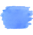 Abstract watercolor texture in blue color vector image vector image