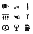 Alcoholic beverage icons set simple style vector image vector image