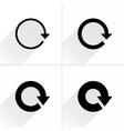 Arrow icon refresh rotation reset repeat sign vector image