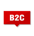 b2c red tag vector image vector image