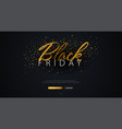 black friday sale calligraphic banner vector image