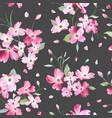 blooming spring flowers pattern seamless vector image