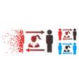 broken pixel halftone swingers exchange woman icon vector image vector image