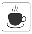 Coffee cup icon black vector image vector image