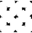 collie dog pattern seamless black vector image vector image