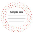 confetti golden and tiny with sample text falling vector image vector image