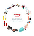 cosmetic products banner card circle isometric vector image vector image
