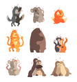 couple cute animals in love embracing each vector image