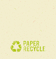 Cream Paper recycle design background vector image vector image