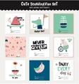 Cute scandinavian set of greeting cards vector image vector image