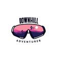 downhill glasses adventurer view landscape vector image