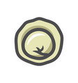 dumpling ravioli food icon cartoon vector image