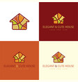 elegant and cute house logo and icon vector image vector image