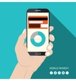 Flat design mobile payment concept vector image vector image