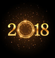 golden glitter 2018 background with sparkles vector image vector image