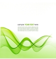 Green smoke wave abstract background vector image vector image