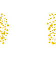 heart frame background with gold glitter hearts vector image vector image