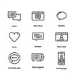 high quality line chat icon vector image vector image