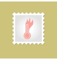 Hot thermometer stamp vector image vector image