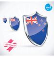 I Love New Zealand Flag vector image