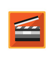 icon for the film industry with clapperboard vector image vector image