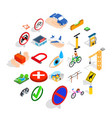 intersection icons set isometric style vector image vector image