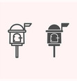 letterbox line and glyph icon mail box on stand vector image vector image