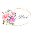 lovely watercolor flower floral background vector image vector image