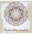 Mandala Beautiful hand-drawn floral round ornament vector image vector image