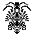 Mayan Mask Tribal Tattoo vector image