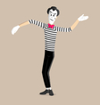 Mime performance - wave vector image vector image