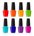 multicolor cartoon nail polish set vector image vector image