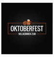 oktoberfest logo with beer mug and pretzel on vector image vector image