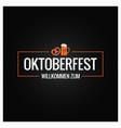 oktoberfest with beer mug and pretzel vector image vector image