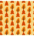 Pattern with orange and red trees vector image