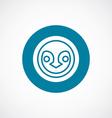penguin icon bold blue circle border vector image vector image
