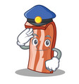 police bacon character cartoon style vector image vector image