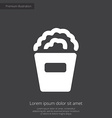 popcorn premium icon white on dark background vector image