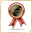 Premium quality black and gold label vector image vector image