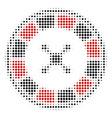 roulette halftone icon vector image