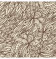 Seamless floral vintage doodle pattern vector image vector image