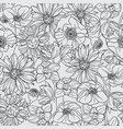seamless pattern with fruit blossom vector image