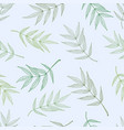 seamless spring pattern from ashberry leaves vector image vector image