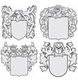 set of aristocratic emblems No6 vector image vector image