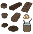 set of chocolate vector image