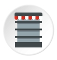 Showcase in shop icon flat style vector image