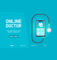smartphone healthcare application vector image vector image